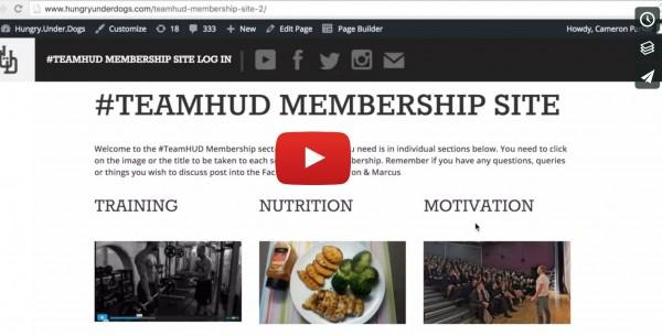 Inside Look: #TeamHUD Training Nutrition & Motivation Membership