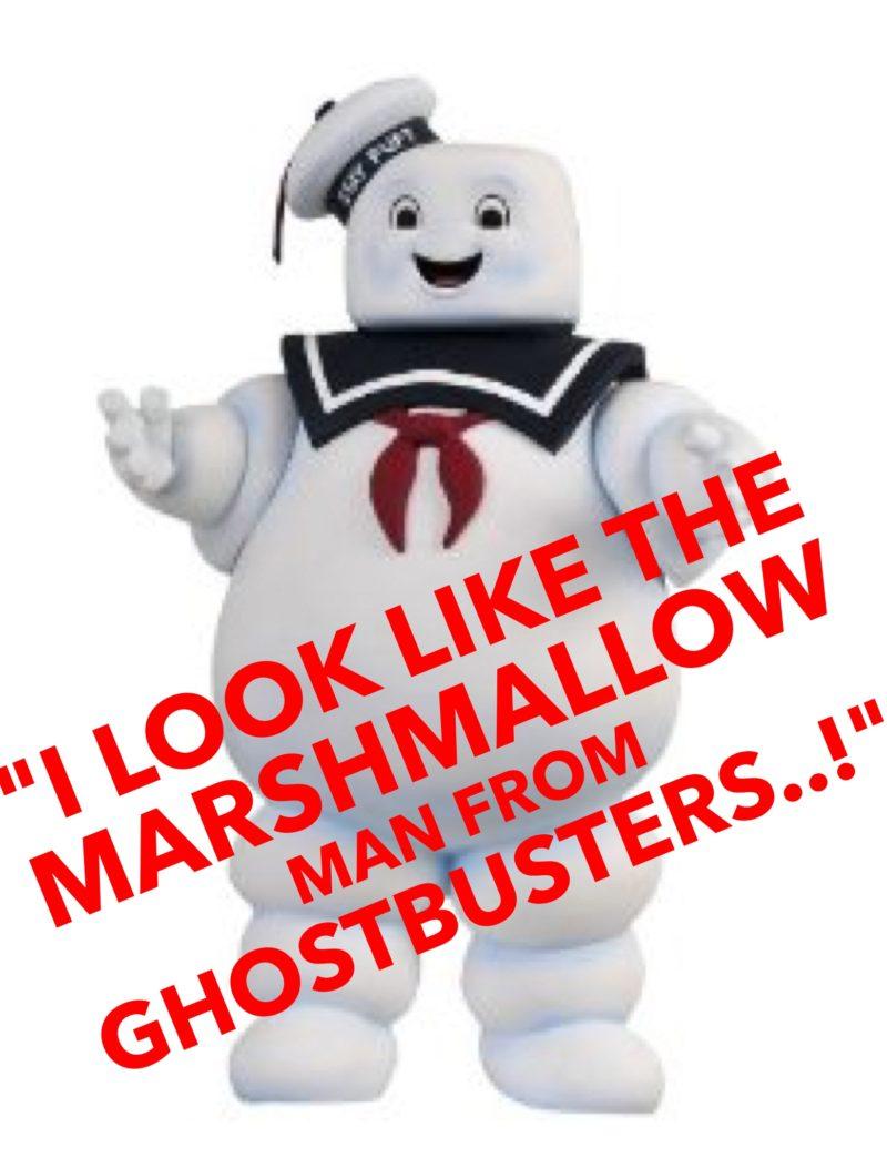 He looks like a marshmallow