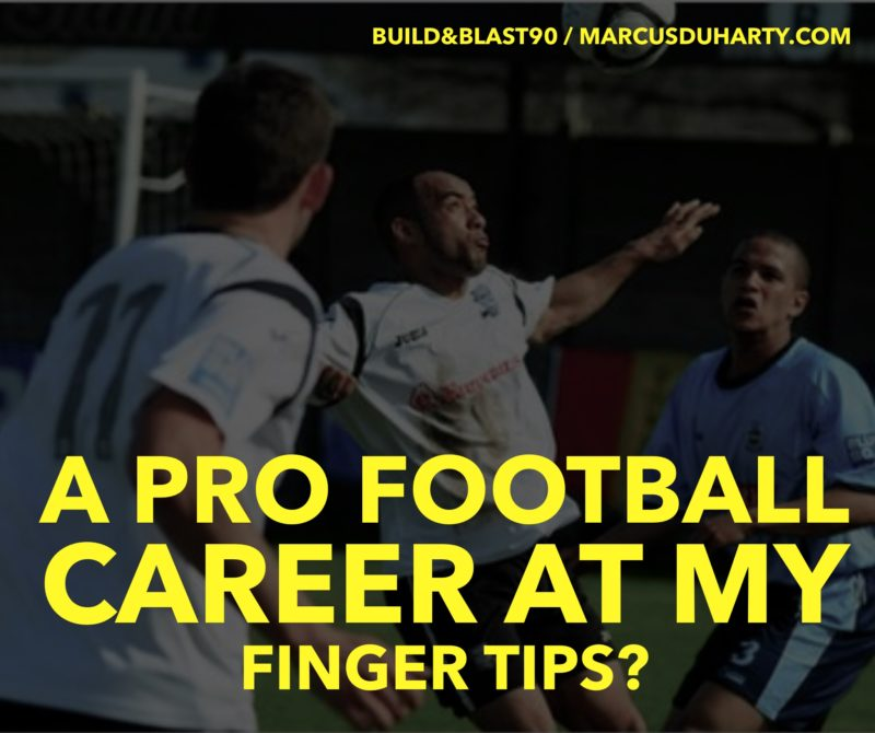 A pro football career was at my finger tips